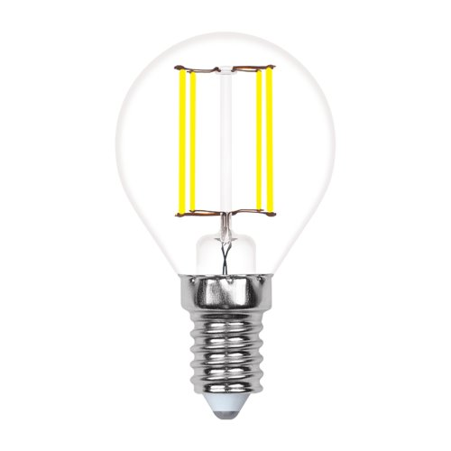 LED-G45-5W-WW-E14-CL-MB GLM10TR Лампа светодиодная. Форма шар. прозрачная. Серия Multibright. Теплый белый свет 3000K. 100-50-10. Картон. ТМ Uniel.