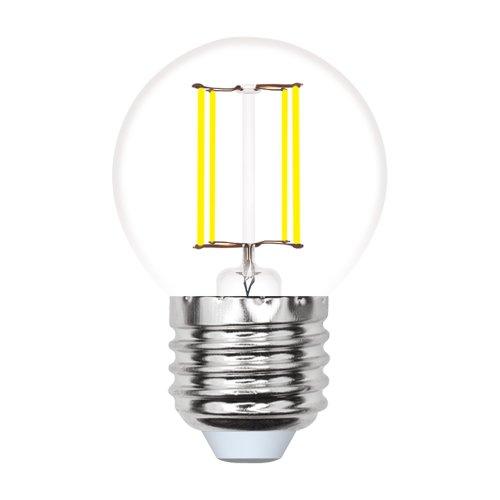 LED-G45-5W-WW-E27-CL-MB GLM10TR Лампа светодиодная. Форма шар. прозрачная. Серия Multibright. Теплый белый свет 3000K. 100-50-10. Картон. ТМ Uniel.