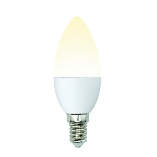 LED-C37-6W-WW-E14-FR-MB PLM11WH Лампа светодиодная. Форма свеча. матовая. Серия Multibright. Теплый белый свет 3000K. 100-50-10. Картон. ТМ Uniel.