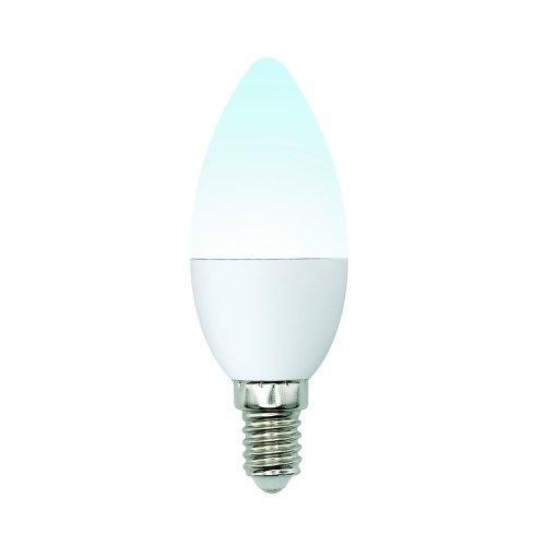 LED-C37-6W-NW-E14-FR-MB PLM11WH Лампа светодиодная. Форма свеча. матовая. Серия Multibright. Белый свет 4000K. 100-50-10. Картон. ТМ Uniel.