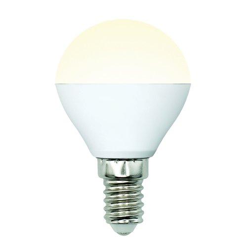 LED-G45-6W-WW-E14-FR-MB PLM11WH Лампа светодиодная. Форма шар. матовая. Серия Multibright. Теплый белый свет 3000K. 100-50-10. Картон. ТМ Uniel.