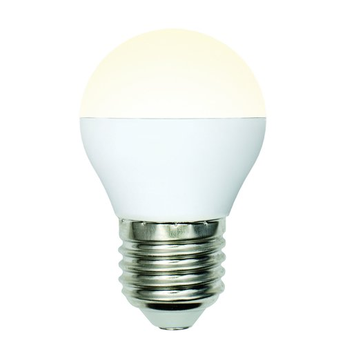 LED-G45-6W-WW-E27-FR-MB PLM11WH Лампа светодиодная. Форма шар. матовая. Серия Multibright. Теплый белый свет 3000K. 100-50-10. Картон. ТМ Uniel.