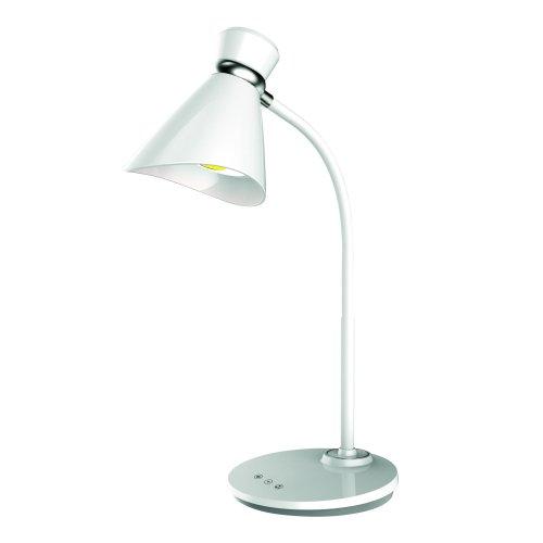 TLD-548 White-LED-300Lm-3300-6000K-Dimmer Светильник настольный. 6W. Сенсорный выключатель. Диммер. Белый. ТМ Uniel