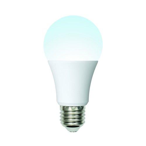 LED-A60-10W-NW-E27-FR-12-24V PLO55WH Лампа светодиодная. 12-24В. Форма A. матовая. Белый свет 4000K. Картон. ТМ Uniel.