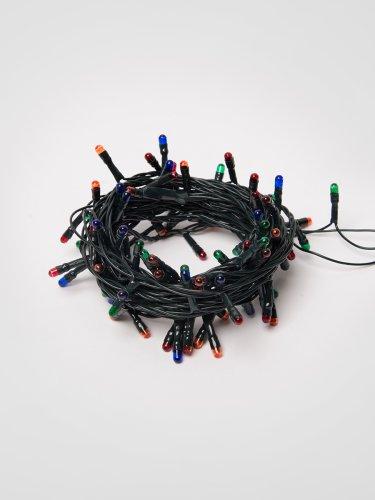 UDL-S0500-100-DGA MULTI IP20 MINI Гирлянда с контроллером. 5м. 100 миниламп накаливания. Разноцветный свет. Провод зеленый. TM Uniel.