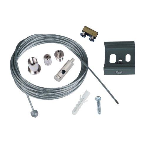UFB-H42 SILVER 1 POLYBAG Набор для подвесного монтажа трехфазных шинопроводов. Регулируемая длина. Цвет серебряный. ТМ Uniel.