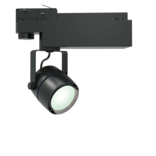 ULB-M08H-24W-NW BLACK Светильник светодиодный трековый. 24 Вт. 2000 Лм. Белый свет 4200К. Корпус черный. 6x16.8 см. ТМ Uniel.