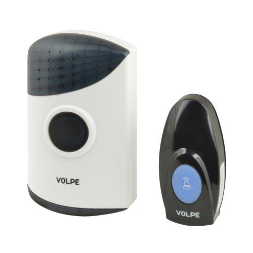 UDB-Q024 W-R1T1-16S-100M-WH Звонок беспроводной. 16 мелодий. Световая индикация. Радиус действия 100 метров. Блистерная упаковка. Белый. ТМ Volpe.