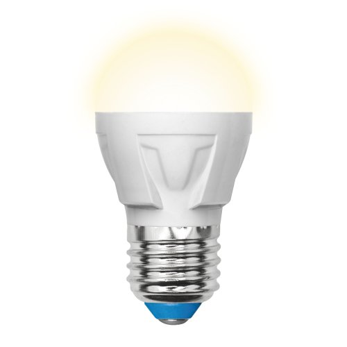 LED-G45 7W-WW-E27-FR PLP01WH Лампа светодиодная. Форма шар. матовая. Серия ЯРКАЯ. Теплый белый свет 3000K. Картон. ТМ Uniel