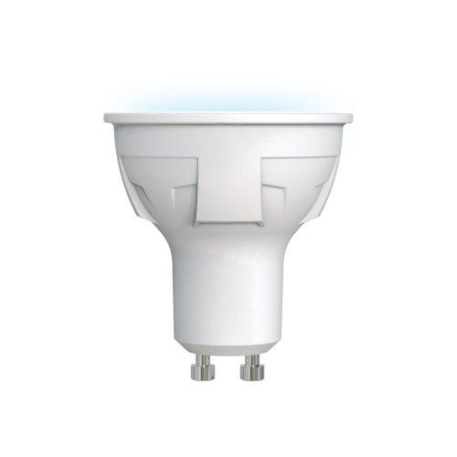 LED-JCDR 6W-NW-GU10-FR PLP01WH Лампа светодиодная. Форма JCDR. матовая. Серия ЯРКАЯ. Белый свет 4000K. Картон. ТМ Uniel
