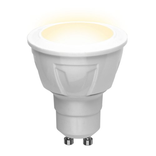 LED-JCDR 6W-WW-GU10-FR PLP01WH Лампа светодиодная. Форма JCDR. матовая. Серия ЯРКАЯ. Теплый белый свет 3000K. Картон. ТМ Uniel