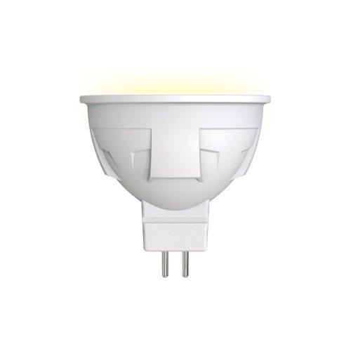 LED-JCDR 6W-WW-GU5.3-FR PLP01WH Лампа светодиодная. Форма JCDR. матовая. Серия ЯРКАЯ. Теплый белый свет 3000K. Картон. ТМ Uniel