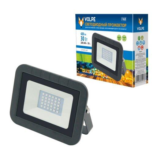 ULF-Q511 30W-BLUE IP65 220-240В BLACK Прожектор светодиодный. Синий свет. Корпус черный. TM Volpe.