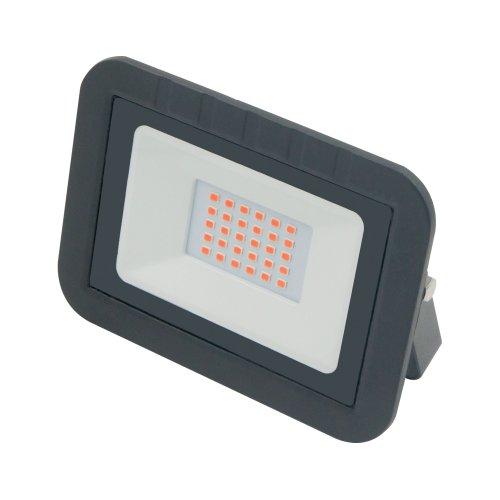 ULF-Q511 30W-RED IP65 220-240В BLACK Прожектор светодиодный. Красный свет. Корпус черный. TM Volpe.