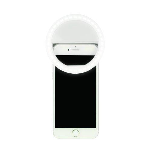 S-HL100-B White Фонарь серии Стандарт Selfie light. 36 LED. 2хААА н-к. Пластик. Белый. TM Uniel.