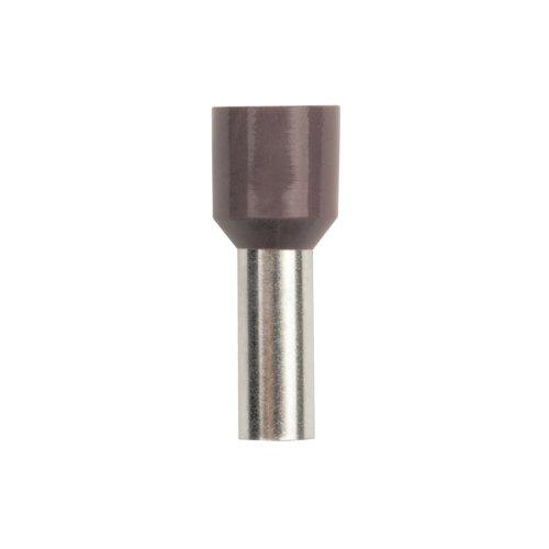 UCT-350-160 BROWN 100 POLYBAG Наконечник-гильза втулочная Е-гильза Uniel сечение проводника 35мм2. длина контактной части 16 мм. цвет коричневый. 100 шт-пакет