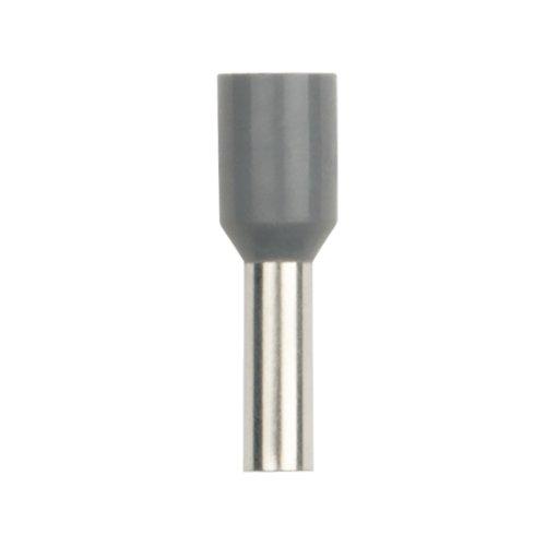 UCT-040-090 GREY 100 POLYBAG Наконечник-гильза втулочная Е-гильза Uniel сечение проводника 4мм2. длина контактной части 9 мм. цвет серый. 100 шт-пакет