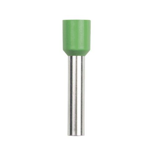 UCT-060-180 GREEN 100 POLYBAG Наконечник-гильза втулочная Е-гильза Uniel сечение проводника 6мм2. длина контактной части 18 мм. цвет зеленый. 100 шт-пакет