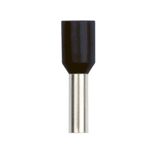 UCT-060-120 BLACK 100 POLYBAG Наконечник-гильза втулочная Е-гильза Uniel сечение проводника 6мм2. длина контактной части 12 мм. цвет черный. 100 шт-пакет