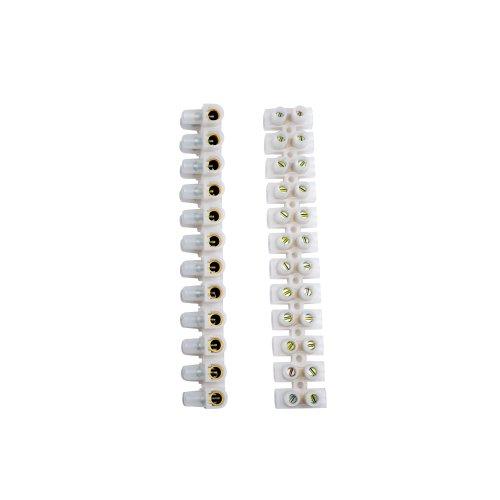 UTС-D-12 UPE-080 White 10 SHRK Клеммная колодка винтовая Uniel. тип U. материал Полиэтилен. допустимый ток 80А. цвет белый. 10 шт-шринк