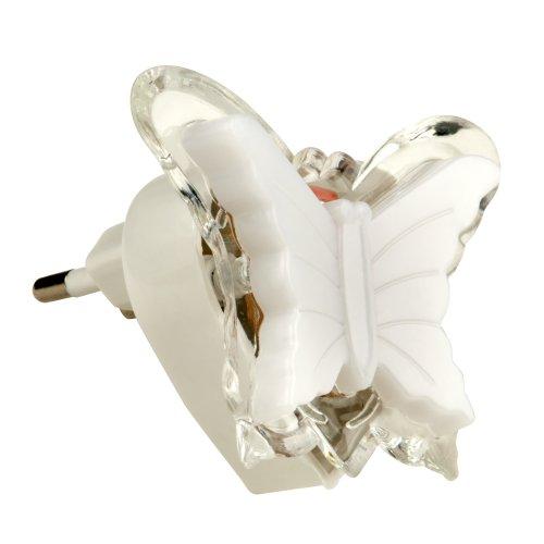 DTL-308-Бабочка-RGB-3LED-0.5W Светильник-ночник. Без выключателя. Блистер