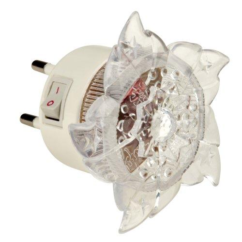 DTL-308-Цветок-RGB-4LED-0.5W Светильник-ночник. Выключатель на корпусе. Блистер