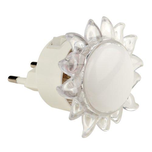 DTL-308-Подсолнух-RGB-4LED-0.5W Светильник-ночник. Выключатель на корпусе. Блистер