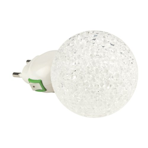 DTL-309-Шар-WHITE-1LED-0.1W Светильник-ночник. Выключатель на корпусе. Блистер