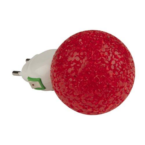 DTL-309-Шар-RED-1LED-0.1W Светильник-ночник. Выключатель на корпусе. Блистер