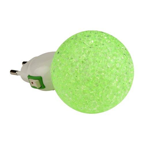 DTL-309-Шар-GREEN-1LED-0.1W Светильник-ночник. Выключатель на корпусе. Блистер