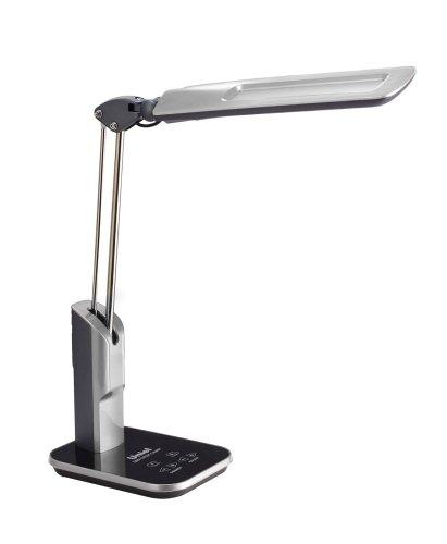 TLD-515 Silver-9W-Светильник настольный-LED-900Lm-6 режимов в диапазоне 2700-6400K-С диммером-Цвет-серебристый