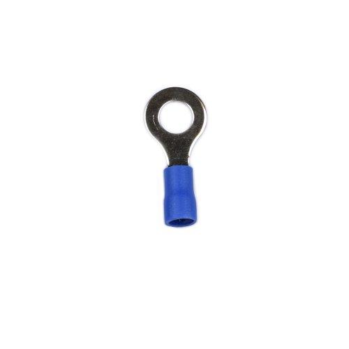 UTC-R-6 B1 BLUE 100 POLYBAG Клемма кольцевая изолированная тип R под винт М6. Диапазон сечения присоединяемого провода 1.5 2.5 кв.мм. Способ присоединения обжимка инструментом. Цвет синий. Упаковка 100 шт в пакете.