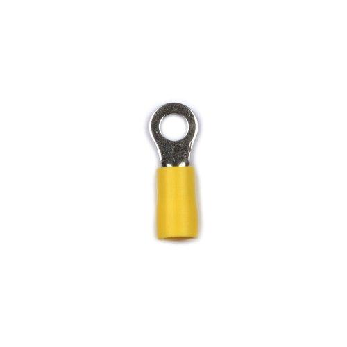 UTC-R-5 D1 YELLOW 100 POLYBAG Клемма кольцевая изолированная тип R под винт М5. Диапазон сечения присоединяемого провода 4 6 кв.мм. Способ присоединения обжимка инструментом. Цвет желтый. Упаковка 100 шт в пакете.