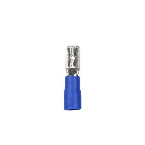 UTC-E-4M B1 BLUE 100 POLYBAG Наконечник клеммный изолированный тип E вилка. Ширина контактной части 4.75 мм. Диапазон сечения присоединяемого провода 1.5 2.5 кв.мм. Способ присоединения обжимка инструментом. Цвет синий. Упаковка 100 шт в пакете.