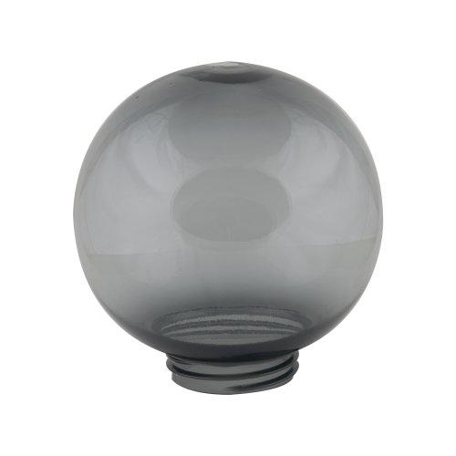 UFP-R200A SMOKE Рассеиватель в форме шара для садово-парковых светильников. Диаметр 200мм. Тип соединения с крепежным элементом резьбовой. Материал САН-пластик. Цвет дымчато-серый.  TM Uniel