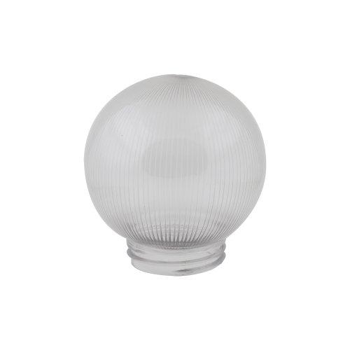 UFP-P150A CLEAR Рассеиватель призматический с насечками в форме шара для садово-парковых светильников. Диаметр 150мм. Тип соединения с крепежным элементом резьбовой. Материал САН-пластик. Цвет прозрачный. Упаковка 16 шт. в групповой картонной коробке.
