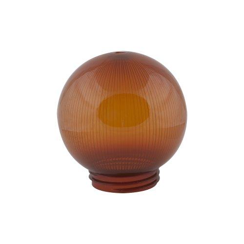 UFP-P150A BRONZE Рассеиватель призматический с насечками в форме шара для садово-парковых светильников. Диаметр 150мм. Тип соединения с крепежным элементом резьбовой. Материал САН-пластик. Цвет бронзовый. Упаковка 16 шт. в групповой картонной коробке.