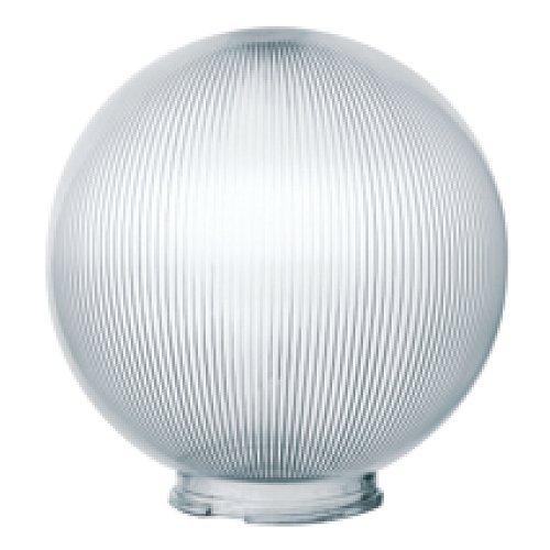 UFP-P300В CLEAR Рассеиватель призматический с насечками в форме шара для садово-парковых светильников. Диаметр 300мм. Тип соединения с крепежным элементом посадочный. Материал САН-пластик. Цвет прозрачный. Упаковка 2 шт. в групповой картонной коробке.