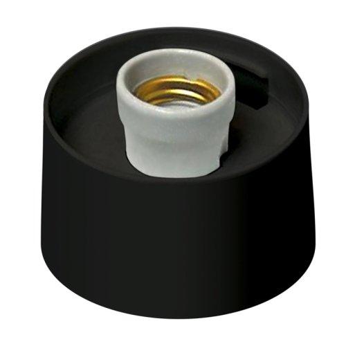 UFP-А01AE BLACK Основание для садово-парковых светильников. Тип соединения с рассеивателем резьбовой. Встроенный патрон Е27. Материал пластик. Цвет черный. Упаковка картон.