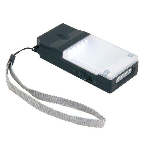 S-CL013-C Black Фонарь Uniel серии Стандарт Faithful Multifunctional Assistant. пластиковый корпус.5+4 LED. упаковка – кламшелл.4хААА н-к. цвет – черный