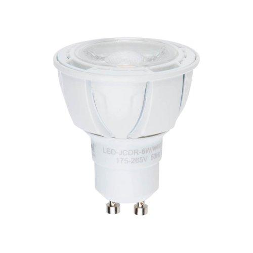 LED-JCDR-6W-NW-GU10-FR-DIM-38D ALP01WH Лампа светодиодная диммируемая. Материал корпуса алюминий. Цвет свечения белый. Угол свечения 38. Серия Palazzo. Упаковка пластик