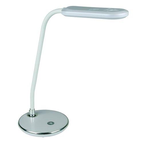 Светодиодный светильник настольный TLD-522 ТМ VOLPE 360Lm-DW-Dimmer-Цвет серебристый