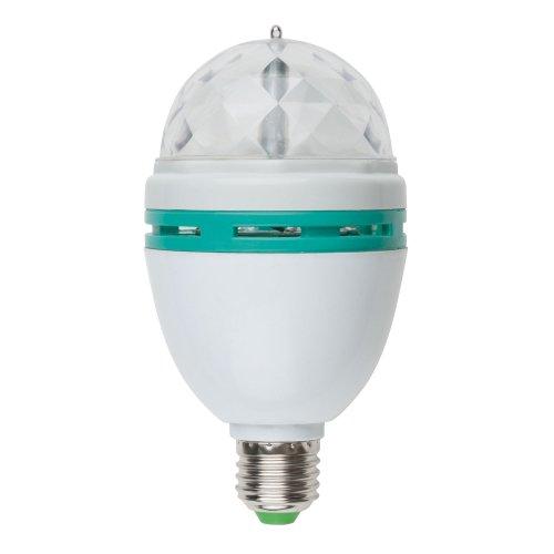 Светодиодный светильник-проектор ULI-Q301. Серия DISCO. многоцветный. ТМ VOLPE. Работа от сети 220В. Для установки в электропатрон Е27. Цвет корпуса белый.