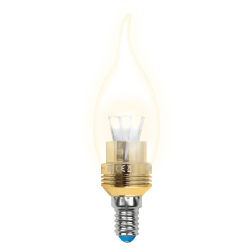LED-CW37P-5W-WW-E14-CL ALC02GD Лампа светодиодная пятилепестковая. Форма свеча на ветру. прозрачная колба. Материал корпуса алюминий. Цвет свечения теплый белый. Цвет корпуса золотой. Серия Crystal. Упаковка пластик