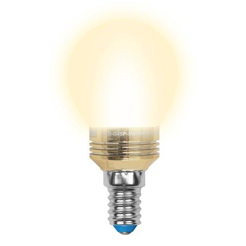 LED-G45P-5W-WW-E14-FR ALC02GD Лампа светодиодная пятилепестковая. Форма шар. матовая колба. Материал корпуса алюминий. Цвет свечения теплый белый. Цвет корпуса золотой. Серия Crystal. Упаковка пластик