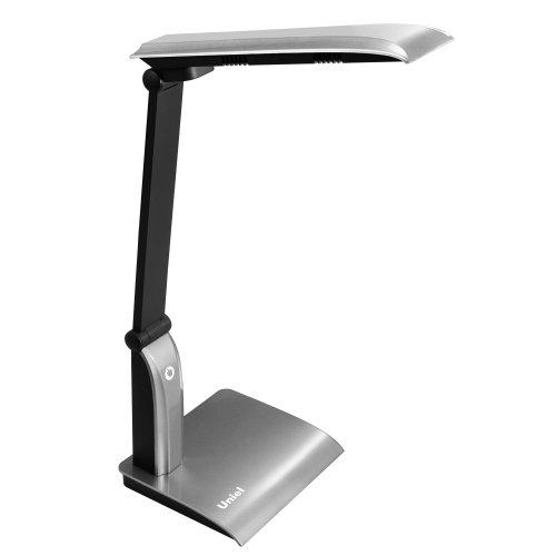 TLD-514 Silver-9W-Светильник настольный LED-840Lm-4500K-С диммером-Цвет-серебристый