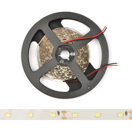ULS-Q921 2835-60LED-m-8mm-IP20-DC12V-4.8W-m-5M-DW Гибкая светодиодная лента на самоклеящейся основе. Катушка 5 м. в герметичной упаковке. Дневной белый свет. ТМ Volpe.