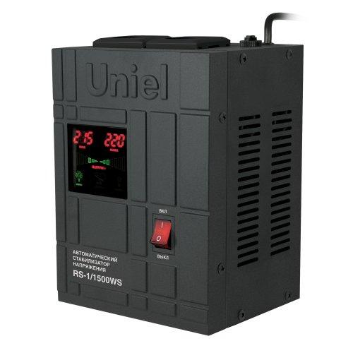 RS-1-1500WS Стабилизатор напряжения Uniel релейный однофазный настенный. с гальванической развязкой. 1500ВА