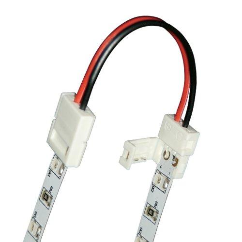 Коннектор провод для соединения светодиодных лент 3528 между собой. 2 контакта. IP20. цвет белый. 20 штук в пакете