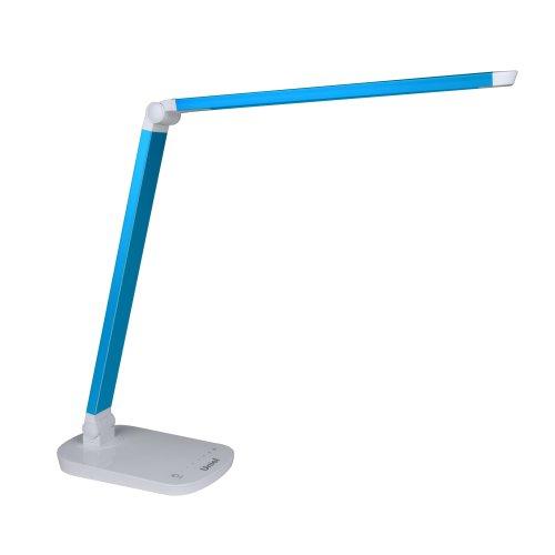 TLD-521 Blue-8W-Светильник настольный-LED-800Lm-5000K-Dimmer-Цвет-синий металлик